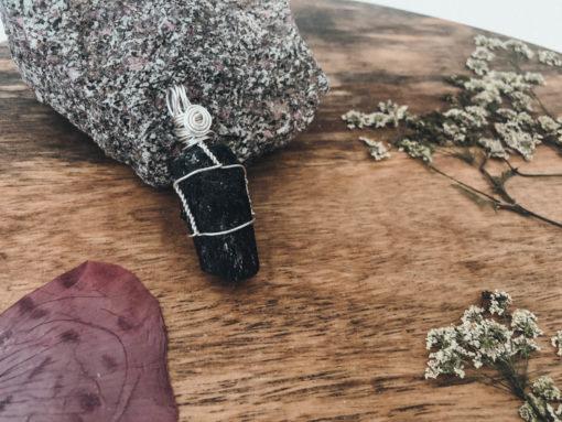 Turmalin Kette Silber